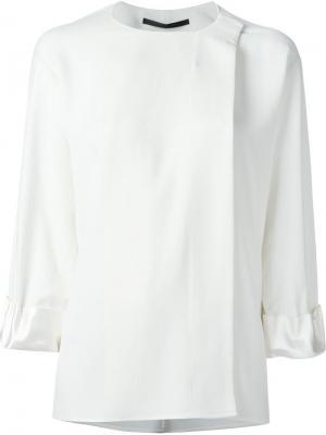 Блузка с длинными рукавами Haider Ackermann. Цвет: белый