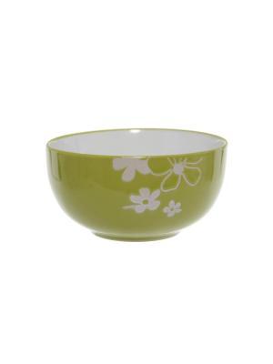 Салатница Elff Ceramics. Цвет: салатовый, белый
