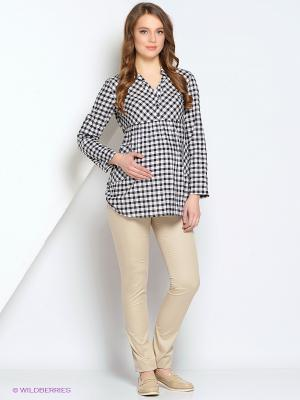 Блуза Gebbe. Цвет: черный, белый