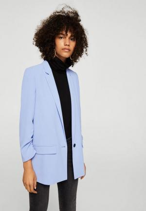 Пиджак Mango. Цвет: голубой