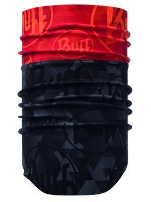 Снуд WINDPROOF NECKWARMER TIP LOGO ORANGE FLUOR Buff. Цвет: красный, черный
