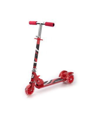 Самокат 3-колесный. стальной, колеса пвх 125 мм, макс. нагрузка до 25 кг . Next. Цвет: красный