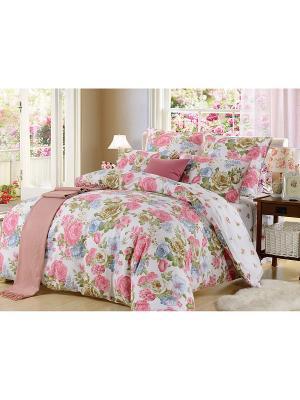 Комплект постельного белья, Валери , 1.5 спальный KAZANOV.A.. Цвет: молочный, розовый