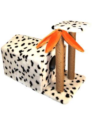 Домик с когтеточкой для кошки Doggy Style. Цвет: коричневый