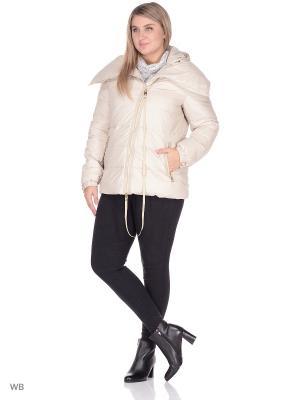 Куртка SML. Цвет: бежевый