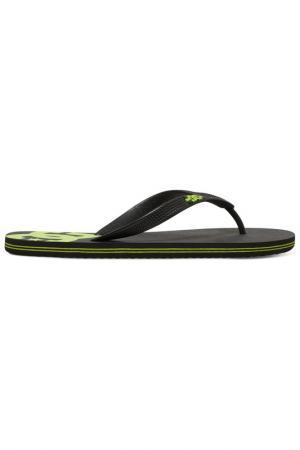 Обувь пляжная DC Shoes. Цвет: черный, салатовый
