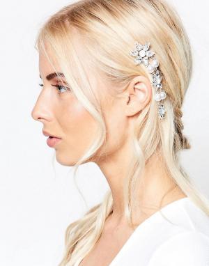 Krystal Заколка для волос с кристаллами Swarovski и жемчугом. Цвет: золотой