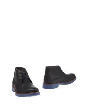 Полусапоги и высокие ботинки 1° GENITO. Цвет: черный