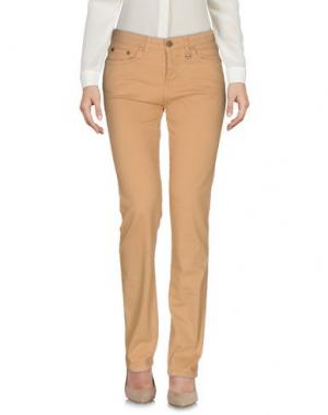 Повседневные брюки DAKS LONDON. Цвет: песочный