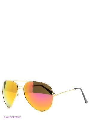 Очки Aviator Mirror - Orange Kawaii Factory. Цвет: темно-коричневый, золотистый