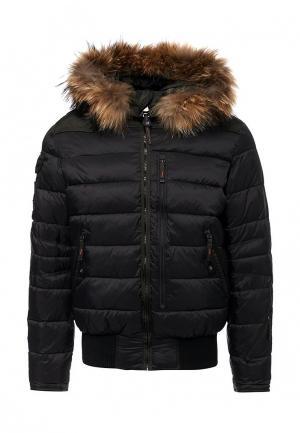Куртка утепленная Vizani. Цвет: черный