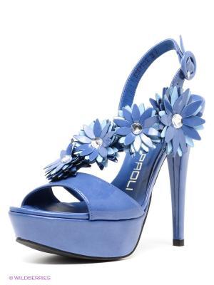 Босоножки GIANCARLO PAOLI. Цвет: синий