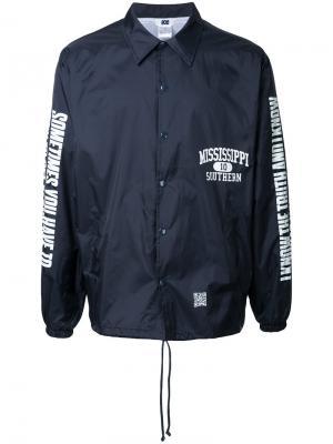 Куртка с графическим принтом Soe. Цвет: синий