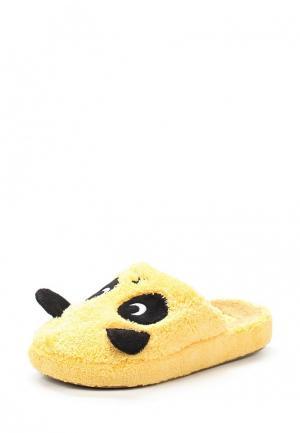 Тапочки Dream Feet. Цвет: желтый