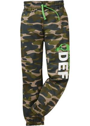 Трикотажные брюки (защитный) bonprix. Цвет: защитный