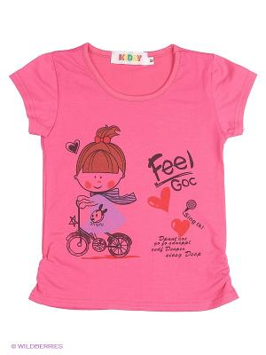 Футболка Kidly. Цвет: фуксия, розовый