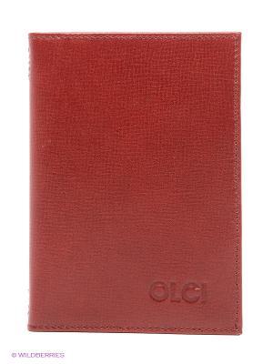 Обложка для водительского удостоверения Olci. Цвет: бордовый