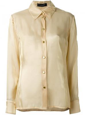 Классическая рубашка Jean Louis Scherrer Vintage. Цвет: телесный
