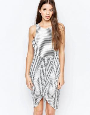 Finders Keepers Платье Think Twice. Цвет: мульти