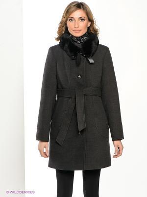 Пальто Klimini. Цвет: темно-серый