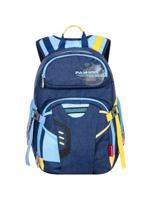 Рюкзак Across. Цвет: синий, голубой, желтый