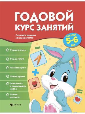 Годовой курс занятий для детей 5-6 лет Феникс-Премьер. Цвет: белый