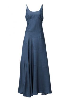 Платье макси Linea Tesini. Цвет: синий деним