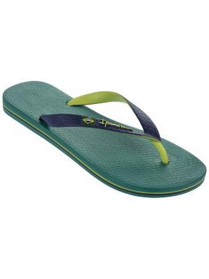 Шлепанцы Ipanema. Цвет: синий, зеленый