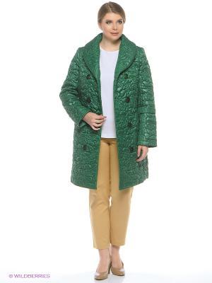 Пальто Brillare. Цвет: зеленый