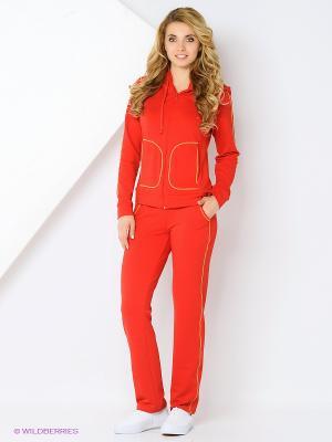 Спортивный костюм FORLIFE. Цвет: красный