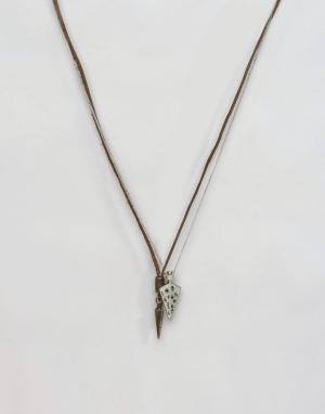 Icon Brand Набор ожерелий с наконечниками стрел. Цвет: черный