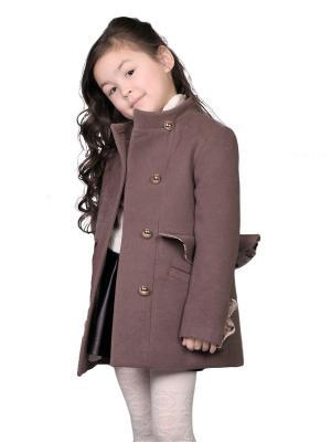 Пальто babyAngel. Цвет: коричневый