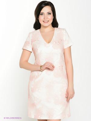 Платье Amelia Lux. Цвет: кремовый, молочный