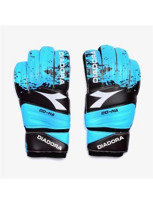 Вратарские перчатки GK DD-NA DIADORA. Цвет: черный, голубой