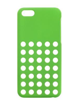 Чехол крышка задняя для iphone 5 5C сверхтонкая IQ Format. Цвет: зеленый