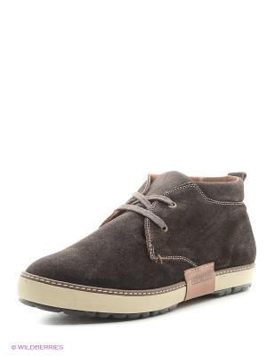 Ботинки NAPAPIJRI. Цвет: темно-коричневый