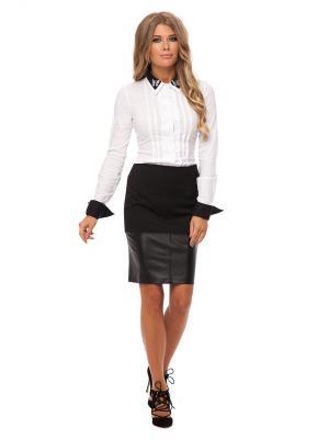 Рубашка Gloss. Цвет: белый,черный