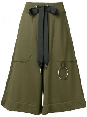 Укороченные широкие брюки Marquesalmeida Marques'almeida. Цвет: зелёный
