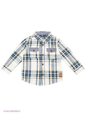 Рубашка NAME IT. Цвет: темно-синий, светло-бежевый, горчичный