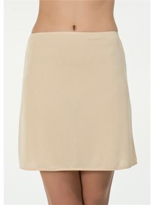 Нижняя юбка Kom. Цвет: светло-бежевый
