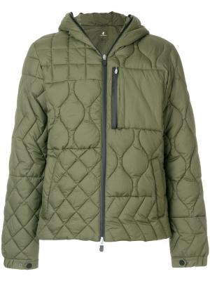 Стеганая куртка с капюшоном Save The Duck. Цвет: зелёный