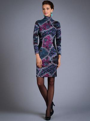 Платье Арт-Деко. Цвет: фиолетовый
