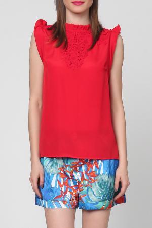 Блузка Grazia. Цвет: красный