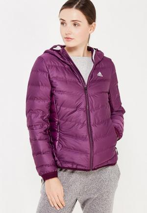 Пуховик adidas. Цвет: фиолетовый