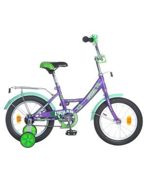 Велосипед 14 URBAN NOVATRACK. Цвет: фиолетовый