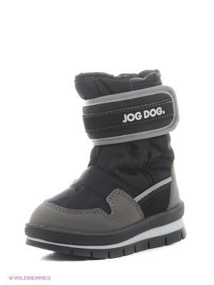 Сапоги Jog Dog. Цвет: черный, серый