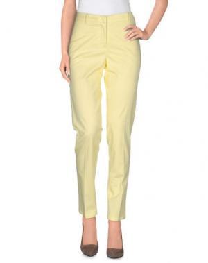 Повседневные брюки 19.70 NINETEEN SEVENTY. Цвет: светло-желтый