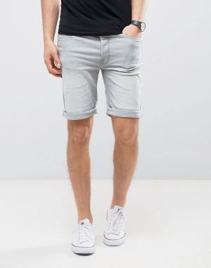 Burton Menswear Джинсовые шорты скинни. Цвет: серый
