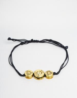 Love Bullets Браслет с тремя пулями Lovebullets. Цвет: черный