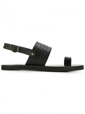 Сандалии Frixos Ancient Greek Sandals. Цвет: чёрный